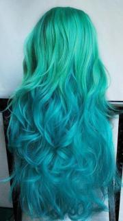 amazing curls green hair