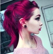 beautiful dyed hair red