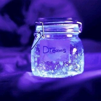 dream, dreaming, dreams, glow, glow jar, heart, illustration, image, images, light, lights, love, magic, magical, photography, quote, quotes, sparkle, star, text, texts, wonderful