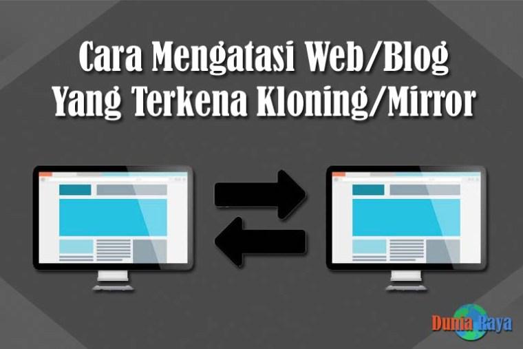 Blog yang Terkena Kloning