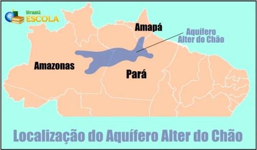 Mapa de localização do Aquífero Alter do Chão, na região Norte do Brasil