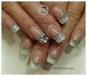 gorgeous wedding bridal nail art