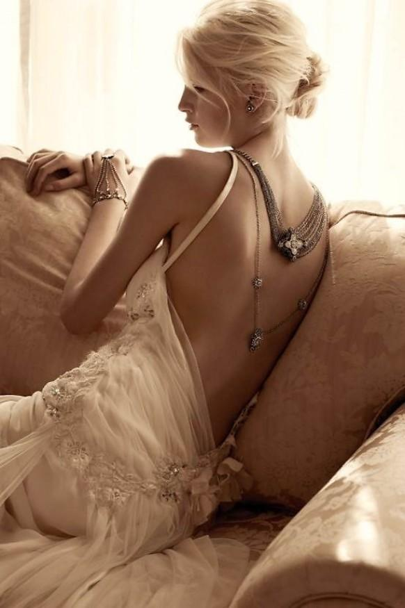 Samantha Wills Bridal And Jewelry Collection  Sexy Lace Deep LowCut Back Wedding Dress