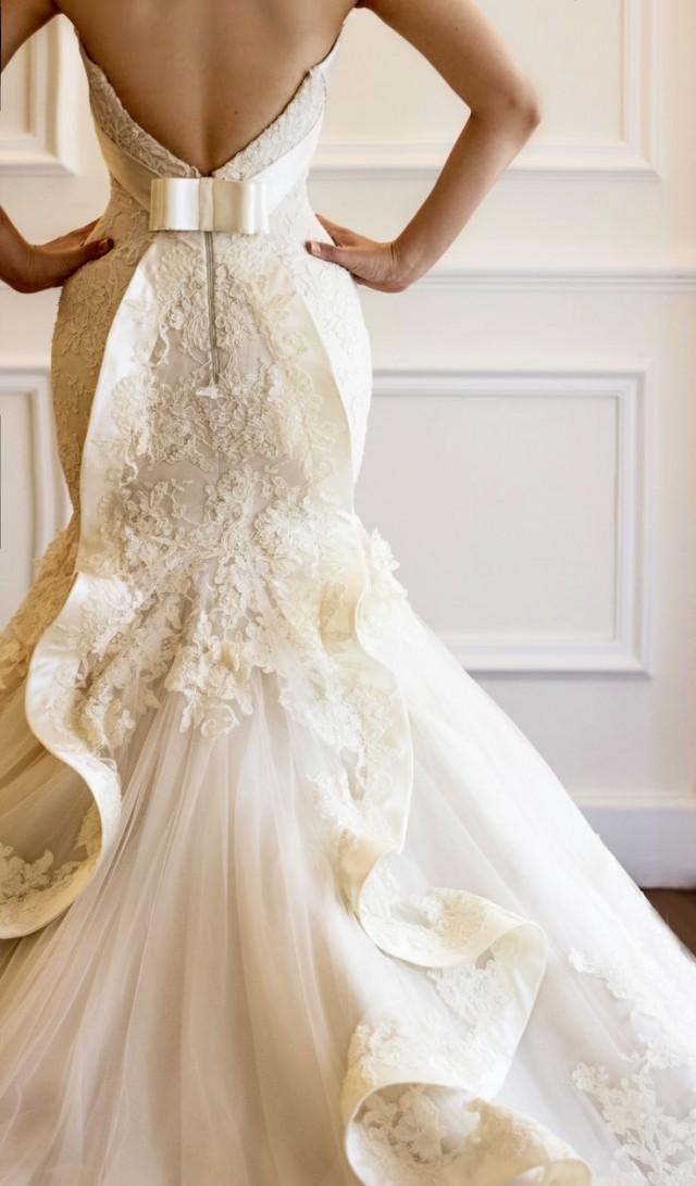 Lace Wedding  Bridal French Lace Gown By Maison Yeya 2026737  Weddbook
