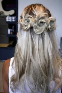 Flower Braid Wedding Hairstyle For The Bride #2039815