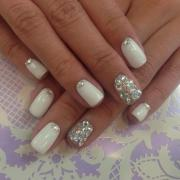silver wedding - bridal nail #2057083