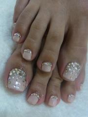 wedding nail design - nails- toes