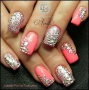 wedding nail design - bling nails