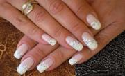 wedding nail design - white