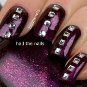 purple wedding - nails #2061619