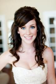 cute wedding hairstyle natural