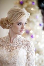 ivory long sleeved lace wedding