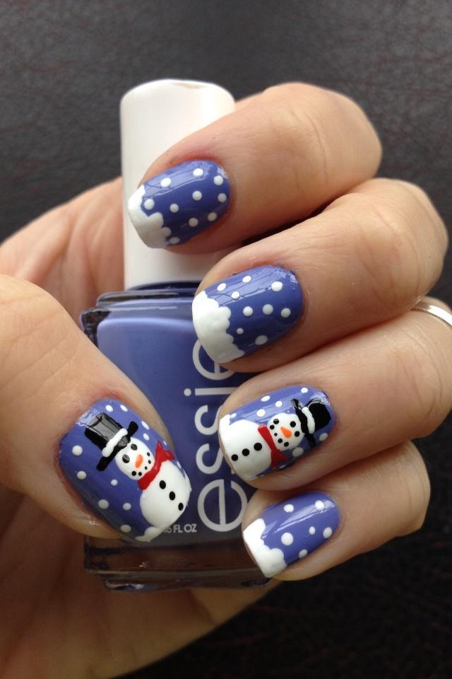 Wedding Nail Designs Frosty The Snowman Nail Art