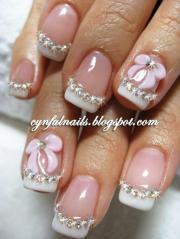 wedding nail design - 3d nails
