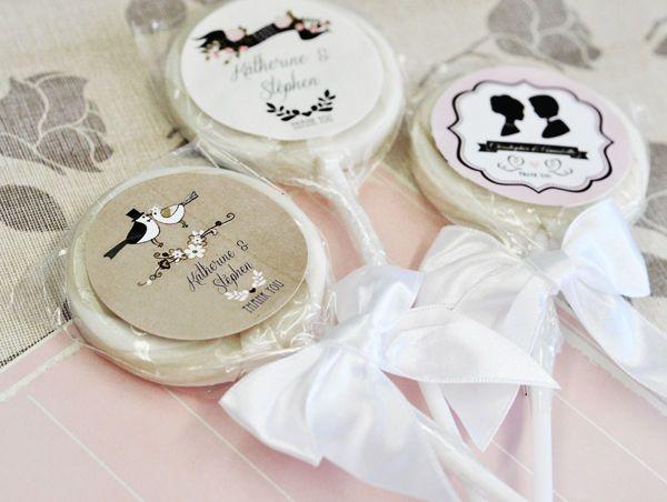 Vintage Wedding  Lollipop Bridal Shower Wedding Favors