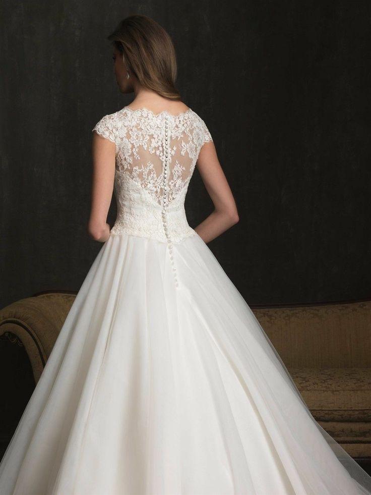 New Simple Organza Zipper Appliques Wedding Dress Custom