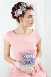 bridal flower crown floral hair