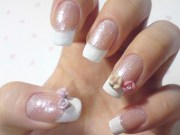 french bridal nail design 3d
