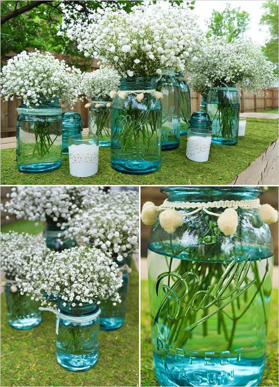 Outdoor Summer Wedding Centerpieces
