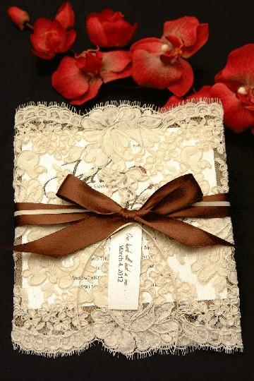 Diy Lace Wedding Invitation