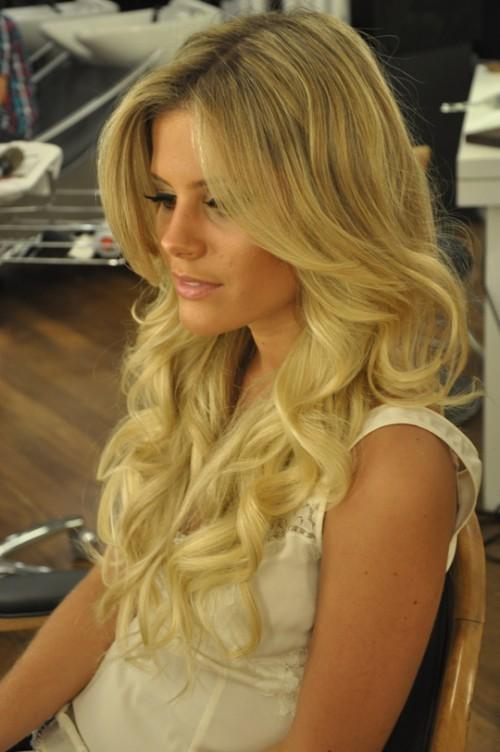 Glamour Hochzeit Frisuren ♥ Lange Glänzende Locken Hochzeit Hair