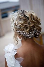 stunning bridal updo hairstyle