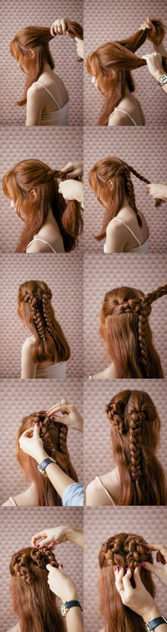 simple and beautiful valentine's day hairstyle tutorial