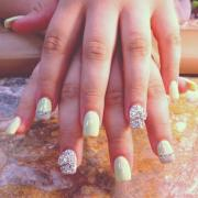 nail - rhinestone nails bow #2026275