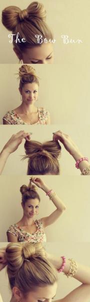 diy hair bow bun tutorial gorgeous