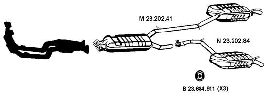 Auspuff Shop: neue Auto Ersatzteile MERCEDES-BENZ E-CLASS
