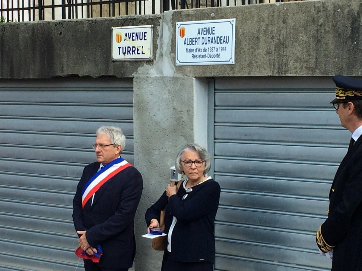 Avenue Turrel devient Avenue Durandeau le 08 mai 2015 Le Chalet Ax les Thermes