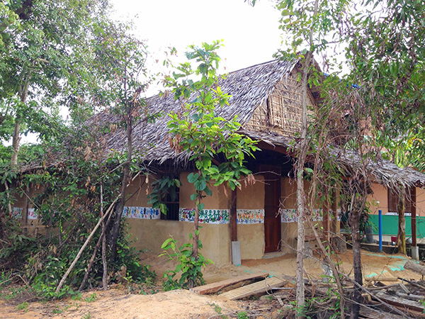 The Earthbag Ecohut is a community built library in NW Cambodia