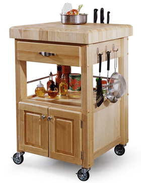 wheeled kitchen island bed bath and beyond mat hardwood on wheels natural building blog islands like this one are practical fairly easy to build