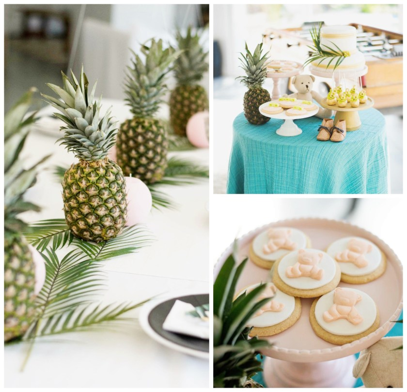 baby shower tropical by plume et caramel