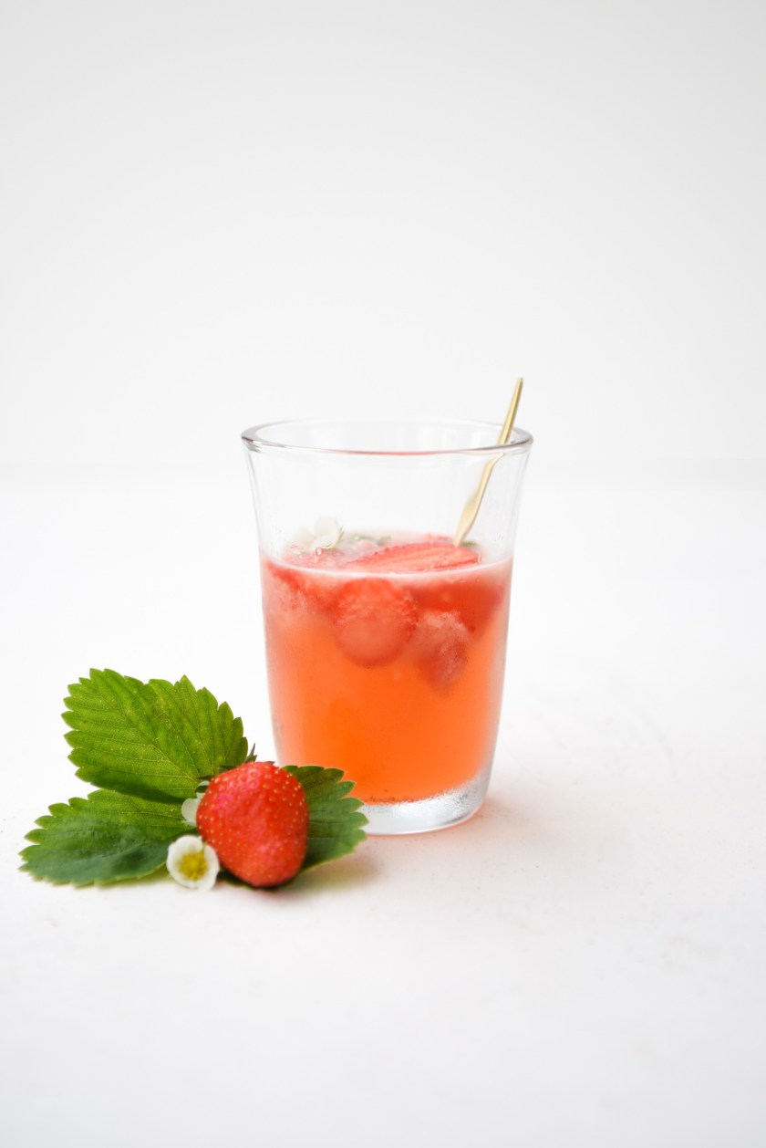 daiquiris - cocktail fraise basilic © Plume et Caramel