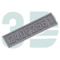 Placa 240 RENFE