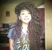 afro beautiful brown hair curly