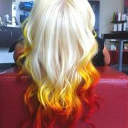 colors fire hair girl