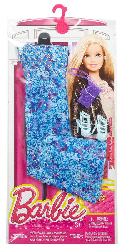 Blue Floral Dress Barbie Complete Look Fashion Pack
