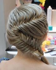 fish tail braid wedding hairstyles