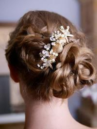 Wedding Starfish Comb With Shells And Crystals #2039896