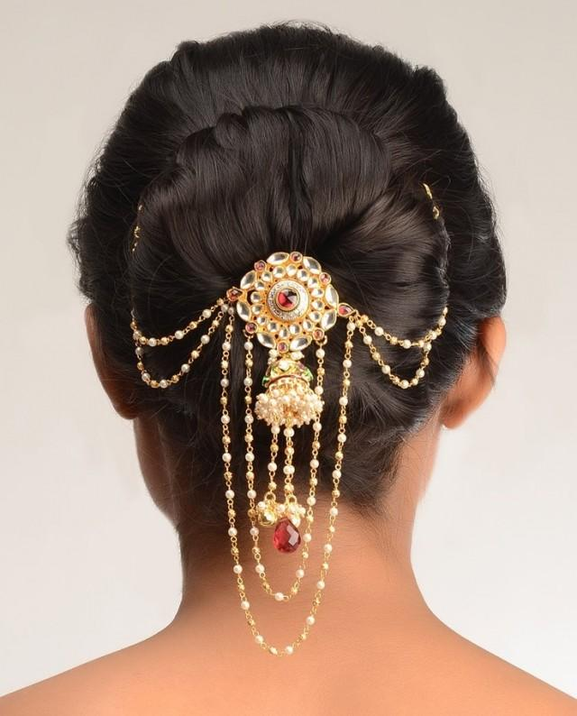 Sophisticated Wedding Hair Pin By Pallavi Kundan 2046618  Weddbook