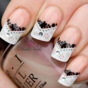 stunning black and white lace bling