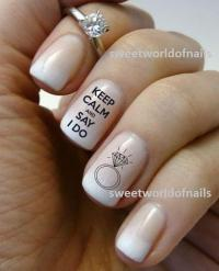 Wedding Nail Art Water Decals/ Water Transfers I Do Nails
