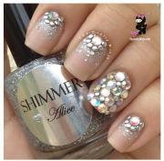 wedding nail design - crystal