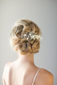 Bridal Hair Comb, Beach Wedding Hair Accessory, Crystal