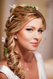wedding loose side braided hairstyles