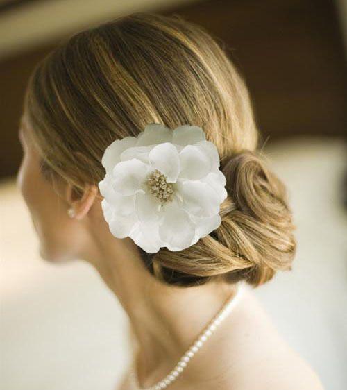 4 4 big white brauthaar blumen klipp haar band hochzeits brosche bridesmai