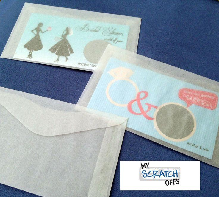 10 Gline Envelopes Wedding Favors Lottery Scratch Off Ticket Gift Card