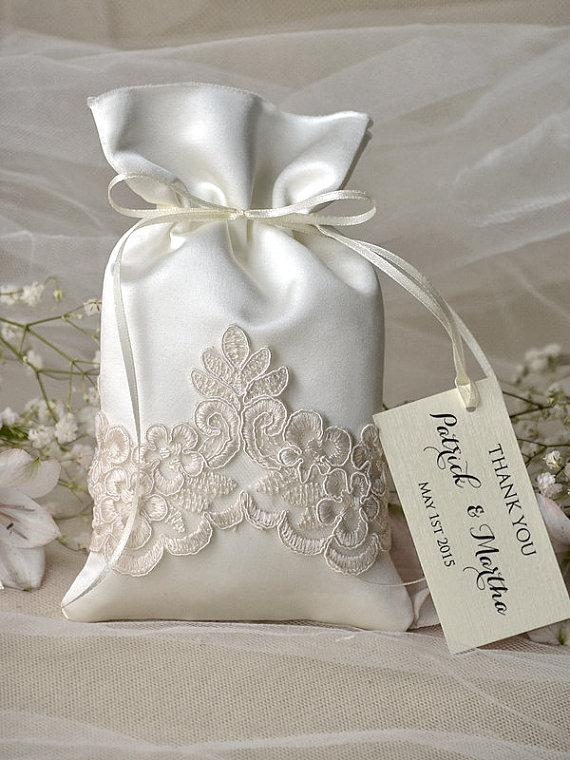Vintage Wedding Favor Bag  Lace Wedding Favor Bags